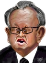 Cartoon: Martti Ahtisaari (small) by cabap tagged caricature,ipad