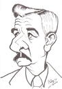 Cartoon: William Faulkner (small) by cabap tagged caricature