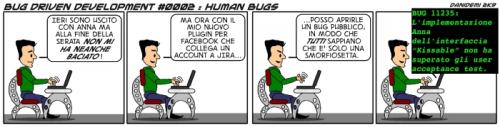 Cartoon: BDD - 0002 (medium) by danidemi tagged bug,driven,development,facebook,delusione,amorosa,jira,plugin,vendetta,programmatore,ragazza,donna,serata,scaricato,due,di,picche