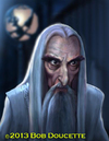 Cartoon: Christopher Lee (small) by tobo tagged lord,of,the,rings,caricature