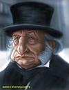 Cartoon: George C Scott as Scrooge (small) by tobo tagged george,scott