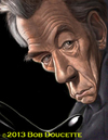 Cartoon: Ian McKellan (small) by tobo tagged caricature