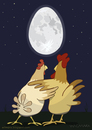 Cartoon: Gallinaceous moonlight (small) by Wilmarx tagged moonlight,love,animal,graphics