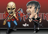 Cartoon: iron maiden (small) by mitosdorock tagged iron,maiden