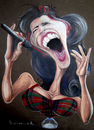Cartoon: Amy Winehouse (small) by Maicon SA tagged caricature,portrait,crayon