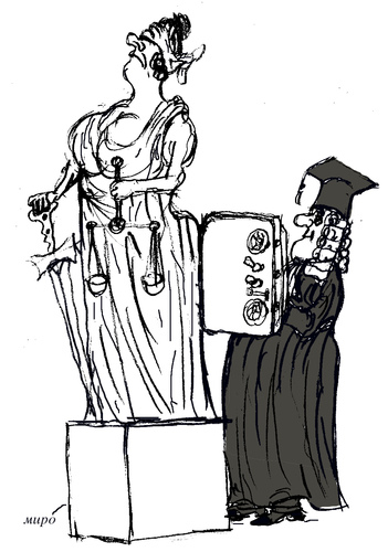 Cartoon: justice (medium) by Miro tagged justice