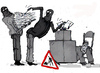 Cartoon: elections action (small) by Miro tagged elections