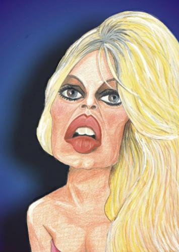 Cartoon: Brigitte Bardot (medium) by Senad tagged brigitte,bardot,senad,nadarevic,bosnia,bosna,karikatura