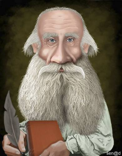 Cartoon: Leo Tolstoy (medium) by Senad tagged leo,tolstoy,senad,nadarevic,bosnia,karikatura