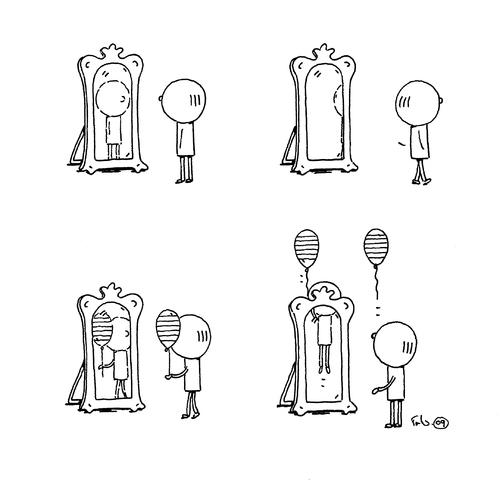 Spiegelbild van trantow philosophy cartoon toonpool for Spiegel cartoon