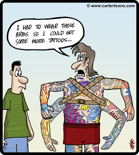 Cartoon: Tattoo annexing (medium) by cartertoons tagged tattoo,tattoos,arms,body,art,prosthesis,tattoo,tattoos,arms,body,art,prosthesis