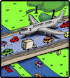 Cartoon: Acrophobia Airways (small) by cartertoons tagged airplanes,travel,flying,phobias,transportation,acrophobia,driving,cars