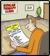 Cartoon: Bipolar Feedback Card (small) by cartertoons tagged bipolar,psychology,customer,feedback,opinions