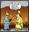 Cartoon: Burnt Offering (small) by cartertoons tagged fire,firemen,safety,emergencies,money