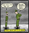 Cartoon: Captain Obvious (small) by cartertoons tagged army,military,captain,obvious,rain,sergeant