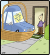 Cartoon: Car Baby (small) by cartertoons tagged cars,autos,automobiles,baby,babies,doorsteps,orphans,home,parenting