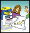 Cartoon: Extra Absorbent Diaper (small) by cartertoons tagged diapers,babies,parenting,children,families