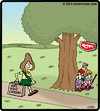 Cartoon: Keebler ambush (small) by cartertoons tagged keebler elves girlscout cookies tree ambush