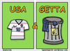 Cartoon: USA e Getta (small) by sdrummelo tagged calcio,soccer,football,usa,italy