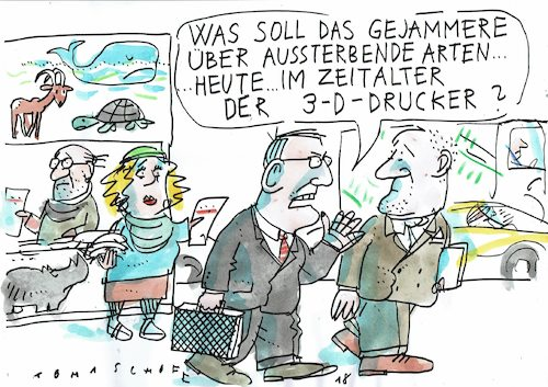 Cartoon: bedrohte Arten (medium) by Jan Tomaschoff tagged umwelt,natur,umwelt,natur