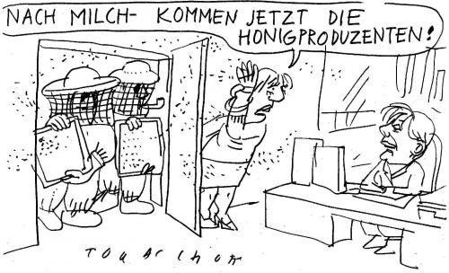 Cartoon: Milchpreise (medium) by Jan Tomaschoff tagged milchpreise,dumping,landwirtschaft