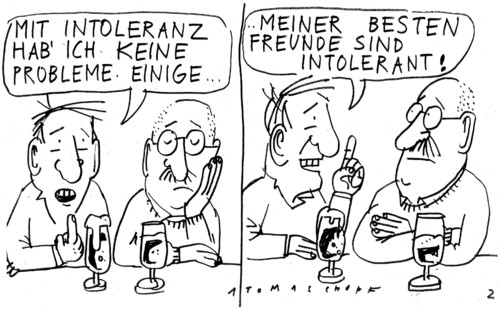 Cartoon: no (medium) by Jan Tomaschoff tagged tolerance,tolerance