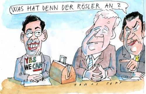 Cartoon: Rösler (medium) by Jan Tomaschoff tagged rösler,seeehofer,söder,gesundheitssystem