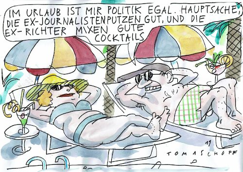 Cartoon: Urlaub (medium) by Jan Tomaschoff tagged tourismus,diktatur,tourismus,diktatur