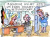 Cartoon: USA (small) by Jan Tomaschoff tagged usa,staatsverschuldung,hillary,clinton