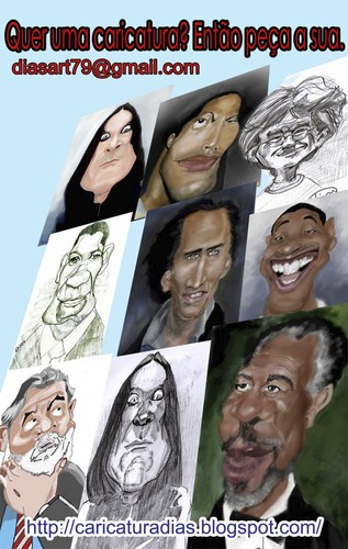 Cartoon: Caricatures (medium) by MRDias tagged caricature