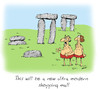 Cartoon: stonehenge (small) by draganm tagged stonehenge,shopping,mall,stone,age