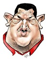 Cartoon: Hugo Chavez (small) by Damien Glez tagged chavez,caricature
