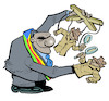 Cartoon: Power and secret services (small) by Damien Glez tagged power,secret,services,politicians