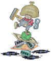 Cartoon: Recession (small) by Damien Glez tagged economy,political,debt,budget,money,taxes,recession