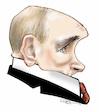 Cartoon: Vladimir Putin (small) by Damien Glez tagged vladimir,putin,russia