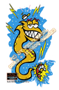 Cartoon: ELECTRIC EEL SHOCKED (small) by FeliXfromAC tagged felix reinhard horst design line aachen illustration illustrator comic cartoon germany aal electric eel shck fun maritim