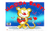 Cartoon: Lovecrazy Leo-HOSSA BABY! (small) by FeliXfromAC tagged felix alias reinhard horst design line aachen lovecrazy leo cartoon character maskot maskottchen illustration illustrator ciomic zeichner comiczeichner designer