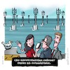 Cartoon: Going offshore (small) by Jo Drathjer tagged g5,g4,g3,mobile,internet,empfang,sender,offshore,internetaccess,internetzugang,kompetenzteam,cdu,bär,digital,digitalministerin,netzabdeckung,funkloch,offshorepark,cartoon,grafikdesign,drathjerdemant