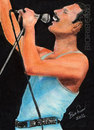 Cartoon: Ready Freddie! (small) by bioribeiro tagged queen,freddie,mercury,pastel,color