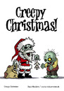 Cartoon: Creepy Christmas (small) by volkertoons tagged volkertoons,grußkarte,karte,postkarte,greeting,card,holidays,weihnachten,halloween,monster,untot,undead,tot,dead,zombies,xmas,christmas,humor,lustig,fun,funny