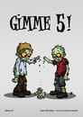 Cartoon: Gimme 5! (small) by volkertoons tagged volkertoons,cartoon,zombies,untote,undead,humor,lustig,spaß,fun,funny,grußkarte,postkarte,karte,greeting,card