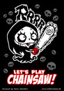 Cartoon: Nosfera - Lets play Chainsaw! (small) by volkertoons tagged volkertoons nosfera cartoon illustration comic lustig funny horror halloween vampir vampire untot undead chainsaw kettensäge girl mädchen cute süß böse evil gothic
