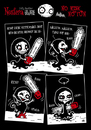 Cartoon: NOSFERA - No Risk No Fun (small) by volkertoons tagged volkertoons,duke,macabre,nosfera,vicious,vampiress,böse,vampöse,vampir,vampire,comic,gothic,lustig,humor,fun,funny,undead,untot