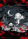 Cartoon: Nosfera meets Blind Banshee (small) by volkertoons tagged volkertoons nosfera banshee vampir vampire girl girls mädchen untot undead horror humor lustig funny halloween gothic poster fashion mode