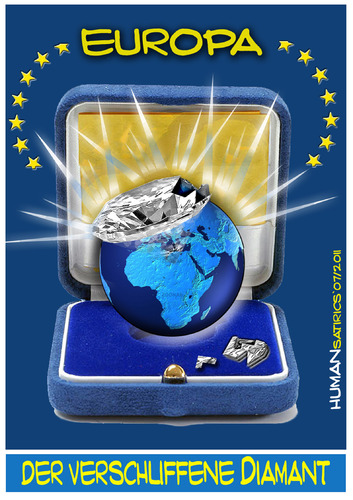 Cartoon: Europ verschliffener Diamant (medium) by cartoonist_egon tagged eu,eurpoa,schliff,schein