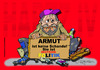 Cartoon: ARMUT ala GERMANY (small) by cartoonist_egon tagged hartz iv sgb ii niedriglohn arge