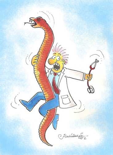 Cartoon: snake and doctor (medium) by halisdokgoz tagged snake,and,doctor