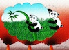 Cartoon: PANDA (small) by halisdokgoz tagged panda