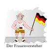 Cartoon: Der Frauenversteher (small) by Tricomix tagged frauenfussball wm birgit prinz sommermaerchen fan fussball soccer women silvia neid