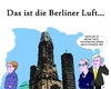 Cartoon: Emissionswerte (small) by Tricomix tagged emission emissionswerte berlin merkel norbert roettgen horst seehofer gedaechtniskirche hohler zahn kurfuerstendamm kuhdamm tauenzienstrasse berliner luft charlottenburg